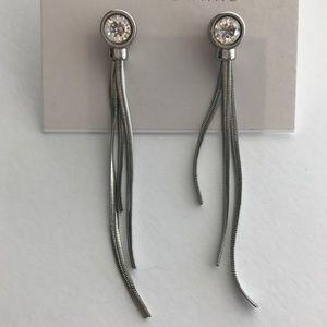 Long crystal earrings!